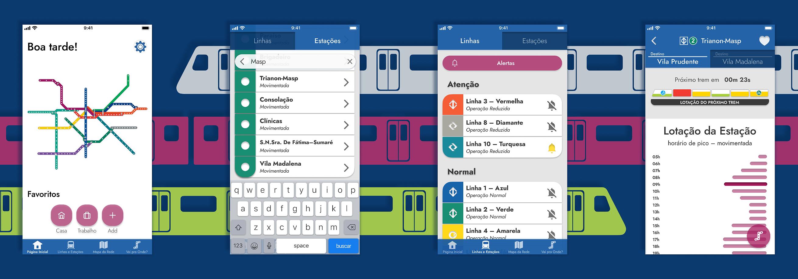 Picture: Victor's Metro SP App Redesign.